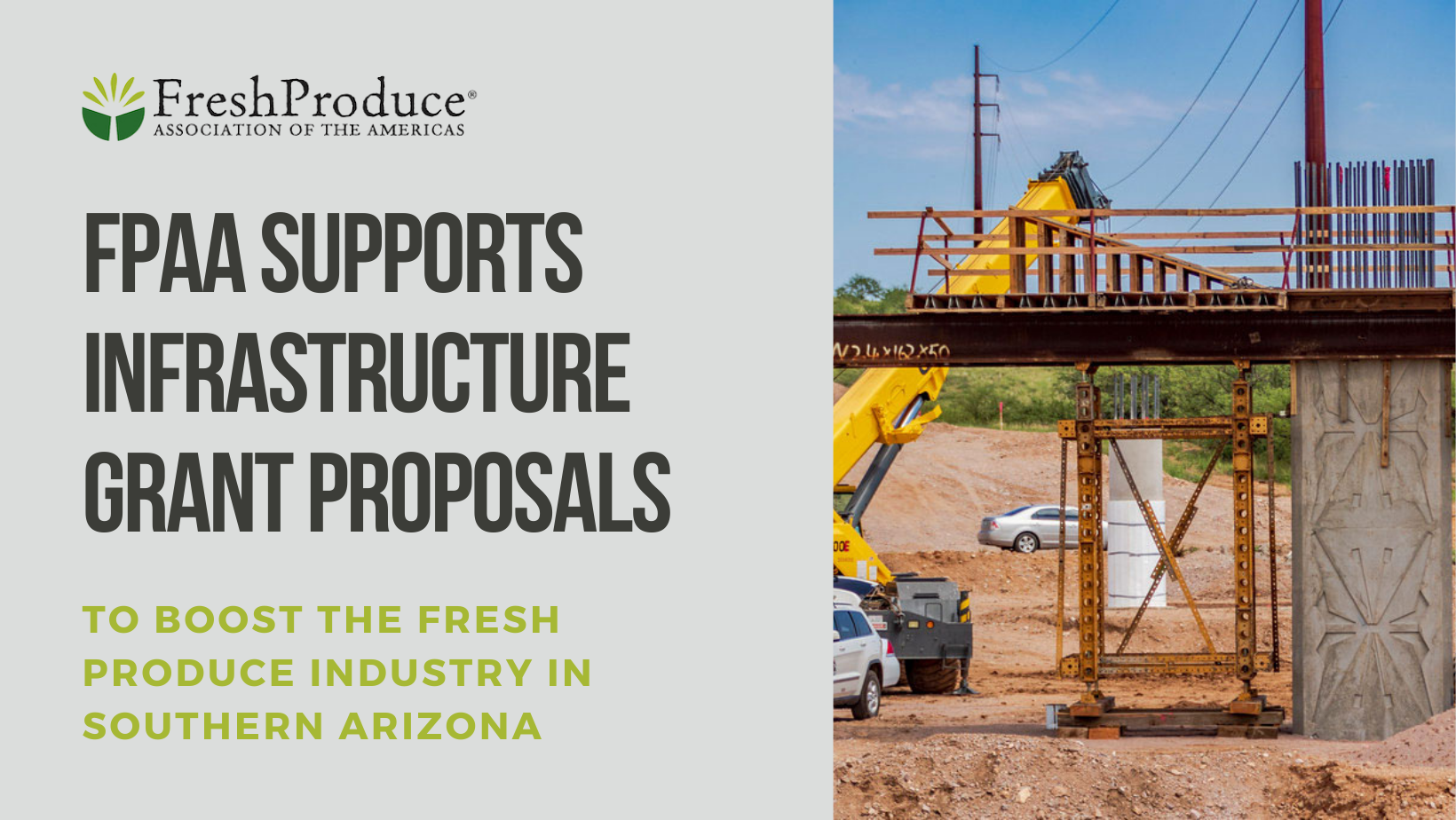 FPAA Supports Infrastructure Grant Proposals to Boost The Fresh Produce Industry in Southern Arizona