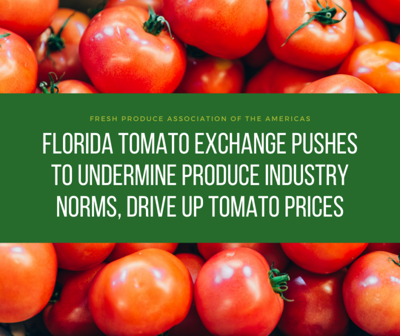 Florida Tomato Exchange Pushes to Undermine Produce Industry Norms, Drive Up Tomato Prices