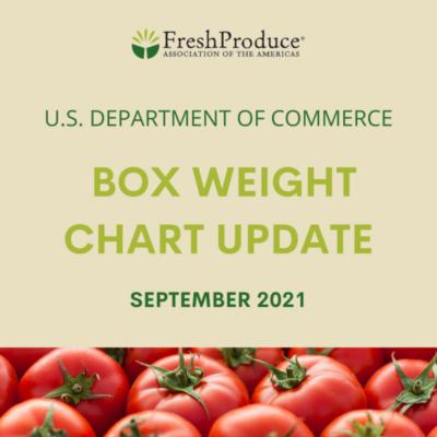 U.S. Department of Commerce – Box Weight Chart Update.SEPT 2021